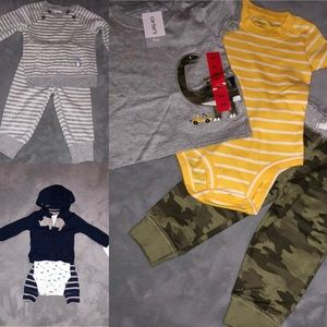 NWT Three Carter's baby boy 9 month old outfits